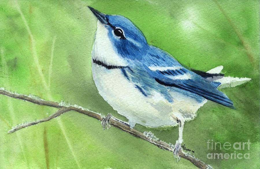 Bird Painting - Cerulean Warbler by Lynn Quinn