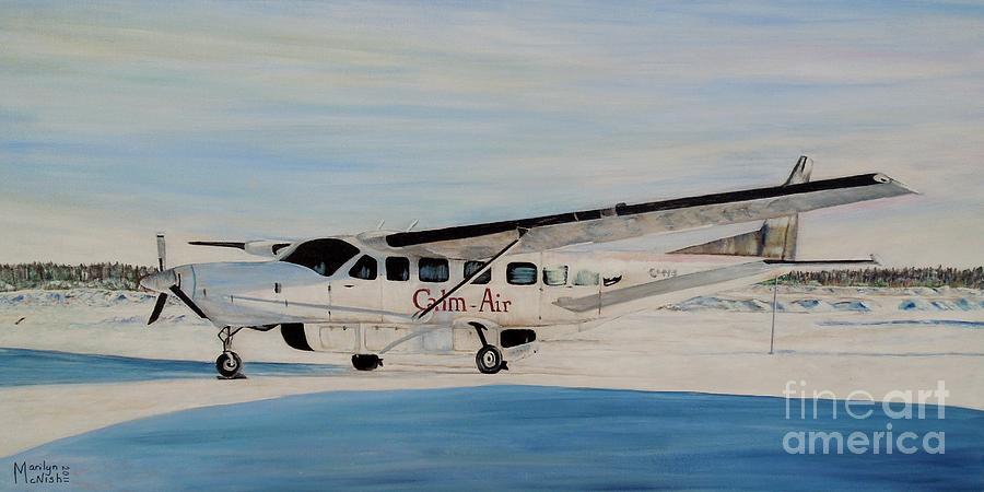 Caravan Painting - Cessna 208 Caravan by Marilyn  McNish