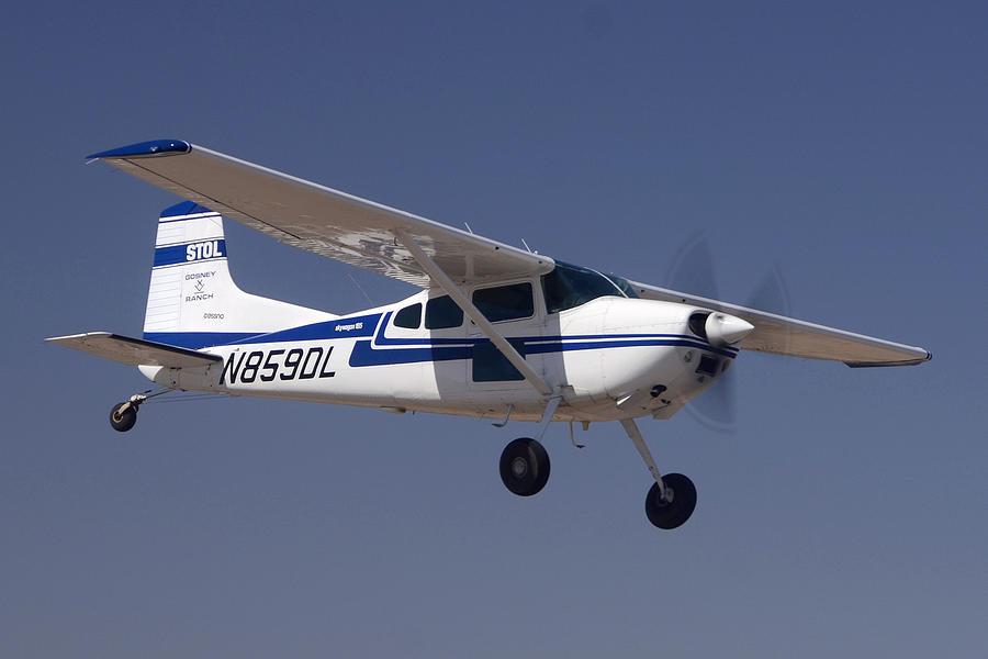 Airplane Photograph - Cessna A185f N859dl Casa Grande March 3 2012 by Brian Lockett