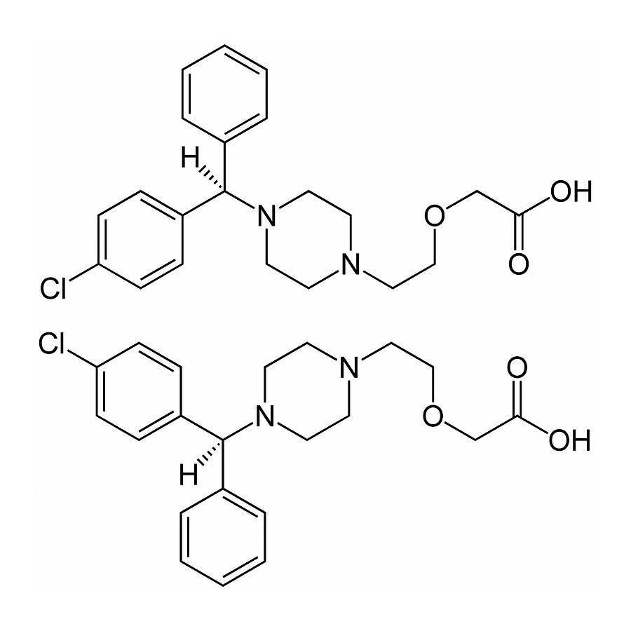 3 Dimensional Photograph - Cetirizine Antihistamine Drug Molecule by Alfred Pasieka/science Photo Library