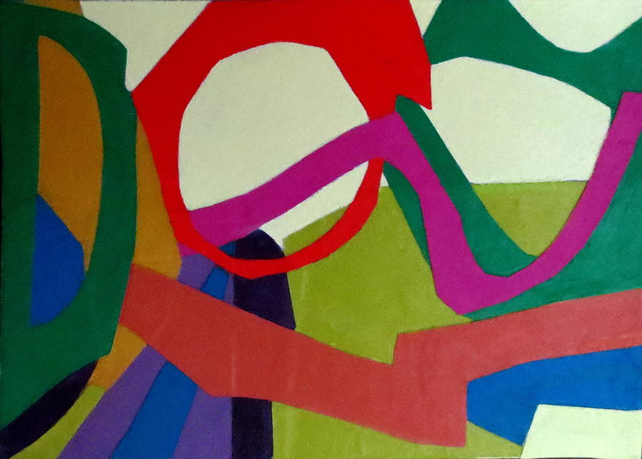 Abstract Expressionism Mixed Media - Cha Cha by Diane Fine