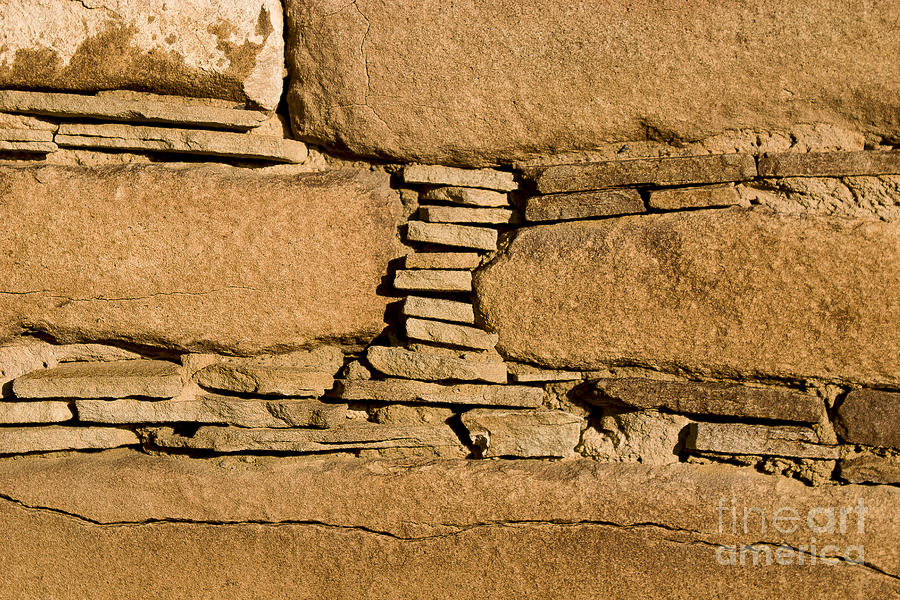 Chaco Photograph - Chaco Bricks by Steven Ralser