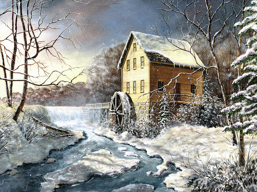 Old Mill Painting - Chaffeys Mill by Roger Witmer
