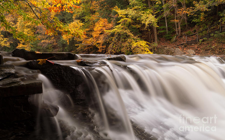 Waterfall Photograph - Chagrin River Falls by Joshua Clark