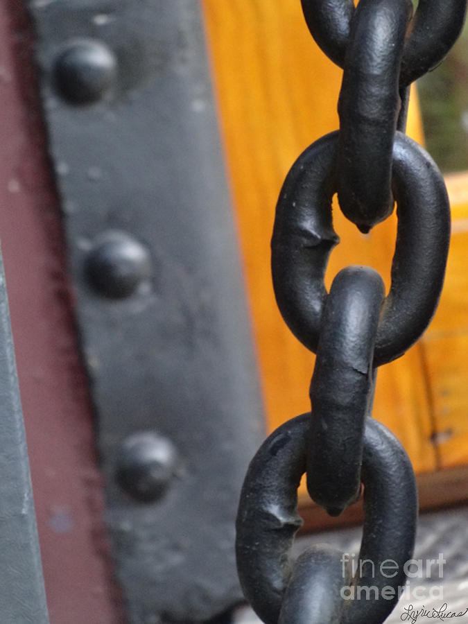 Abstract Photograph - Chain And Rivets by Lyric Lucas