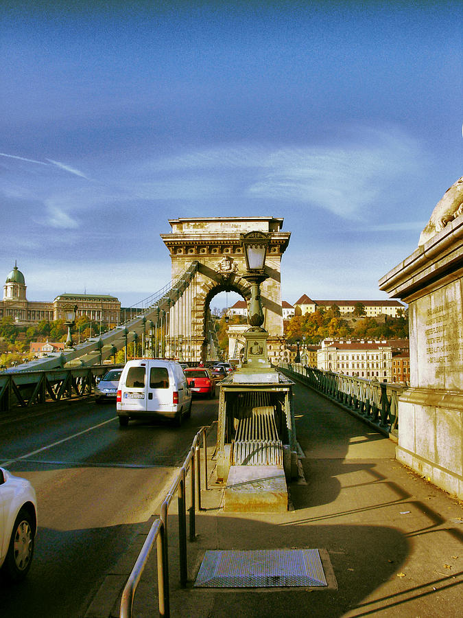 Chain Bridge Photograph - Chain Bridge-1 by Janos Kovac