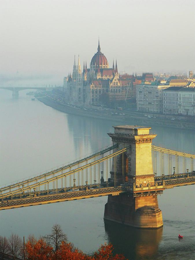 Chain Bridge And Hungarian Parliament Photograph by Ilona Nagy