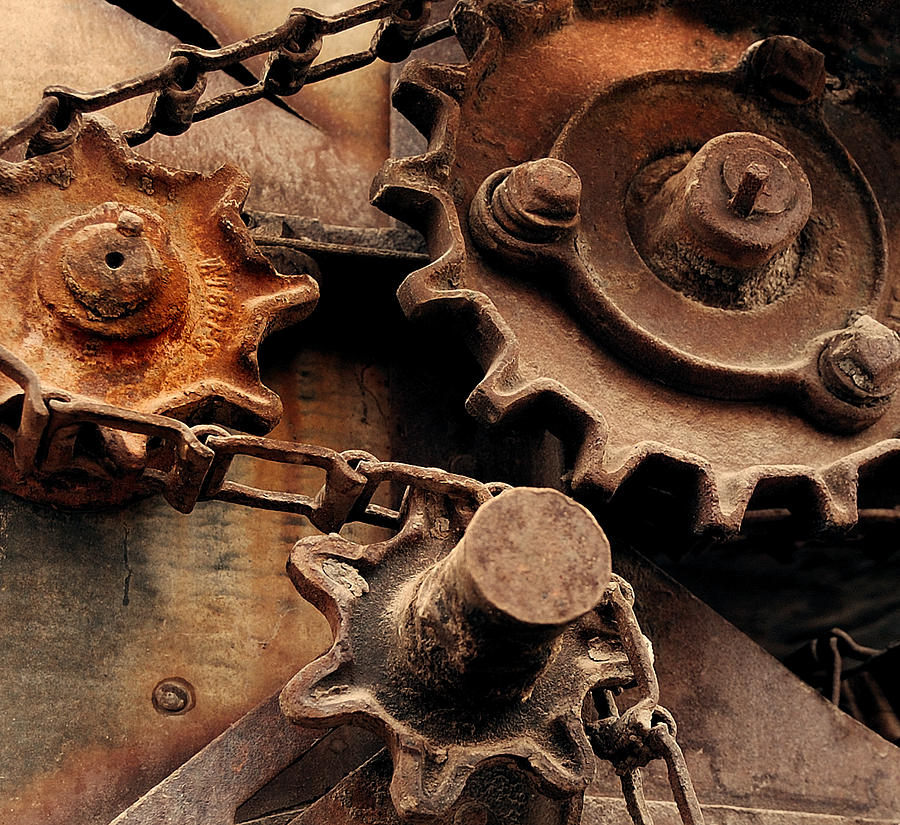 Industrial Photograph - Chain Driven  by Steven Milner