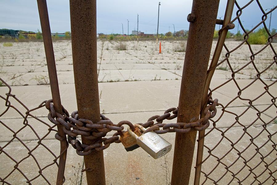Chain Photograph - Chained And Padlocked Gate by Jim West