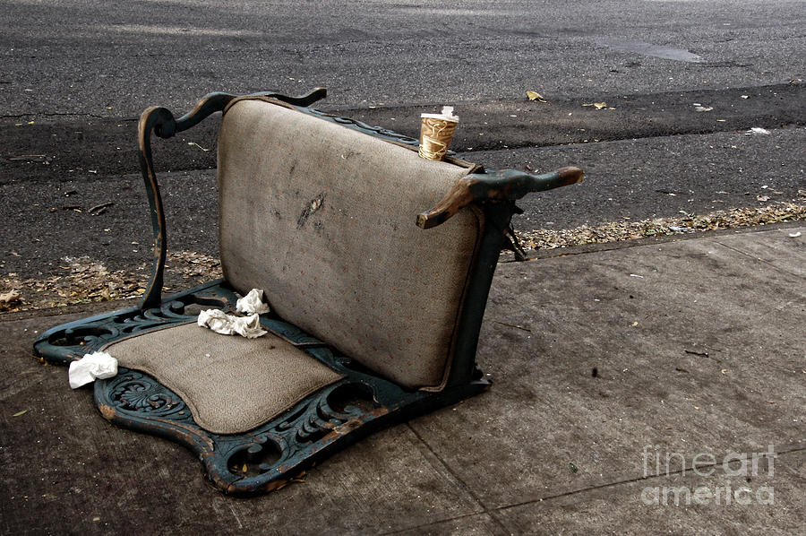 Street Photograph - Chair And Coffee Cup by Mark Thomas