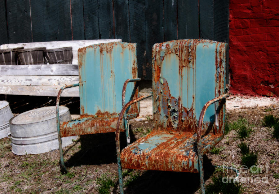 Chair Photograph - Chair Blossoms  by Steven Digman
