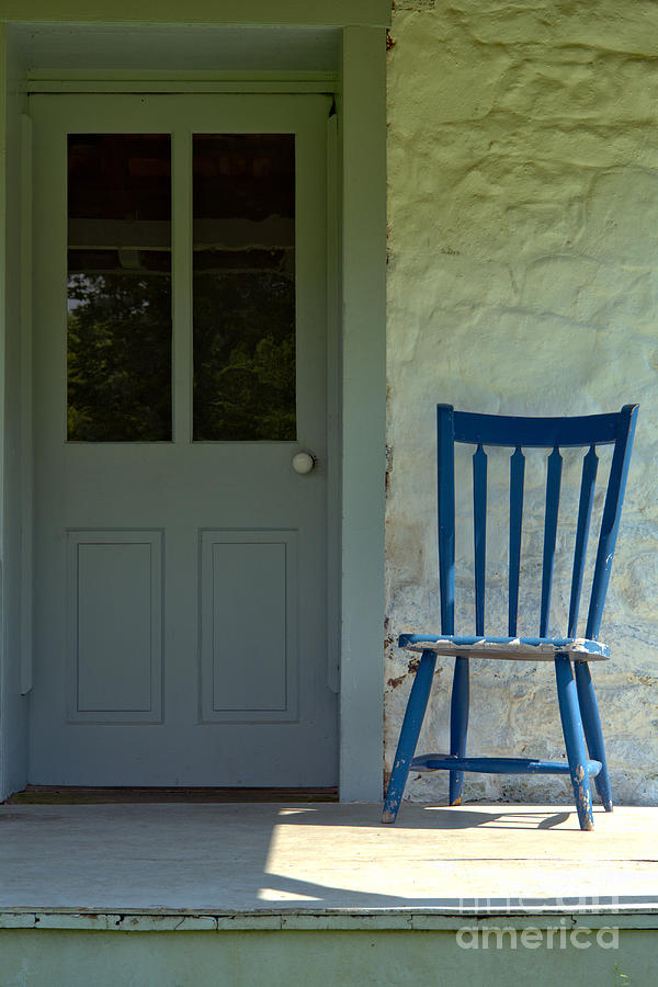 Front Photograph - Chair On Farmhouse Porch by Olivier Le Queinec