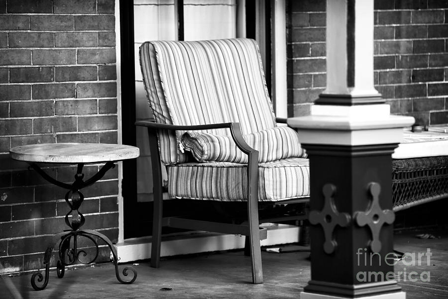 Porch Photograph - Chair On The Porch by John Rizzuto