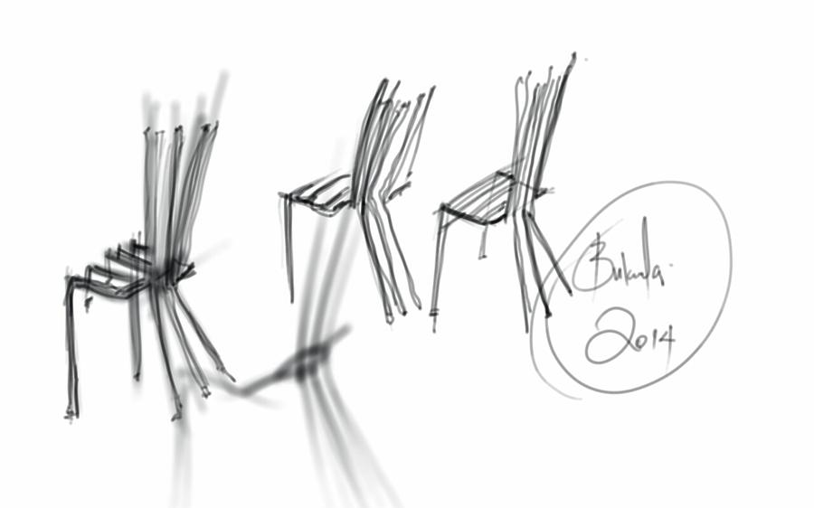 Chair Sculpture Digital Art by Khaya Bukula