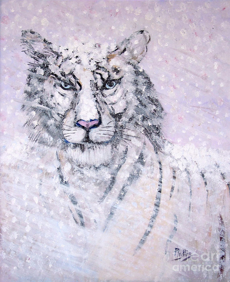 White Tiger Painting - Chairman Of The Board by Phyllis Kaltenbach