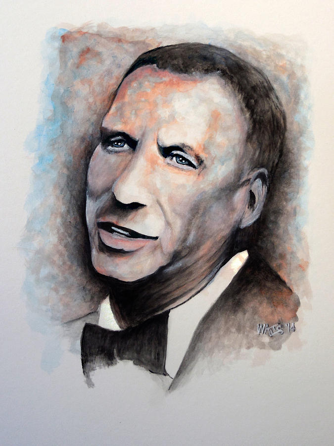 Sinatra Painting - Chairman Of The Board - Sinatra by William Walts