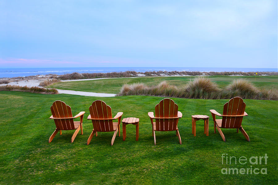 Chairs At The Eighteenth Hole Photograph