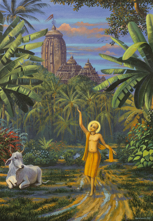 Chaitanya Painting - Chaitanya Mahaprabhu In Jaganath Puri by Vrindavan Das