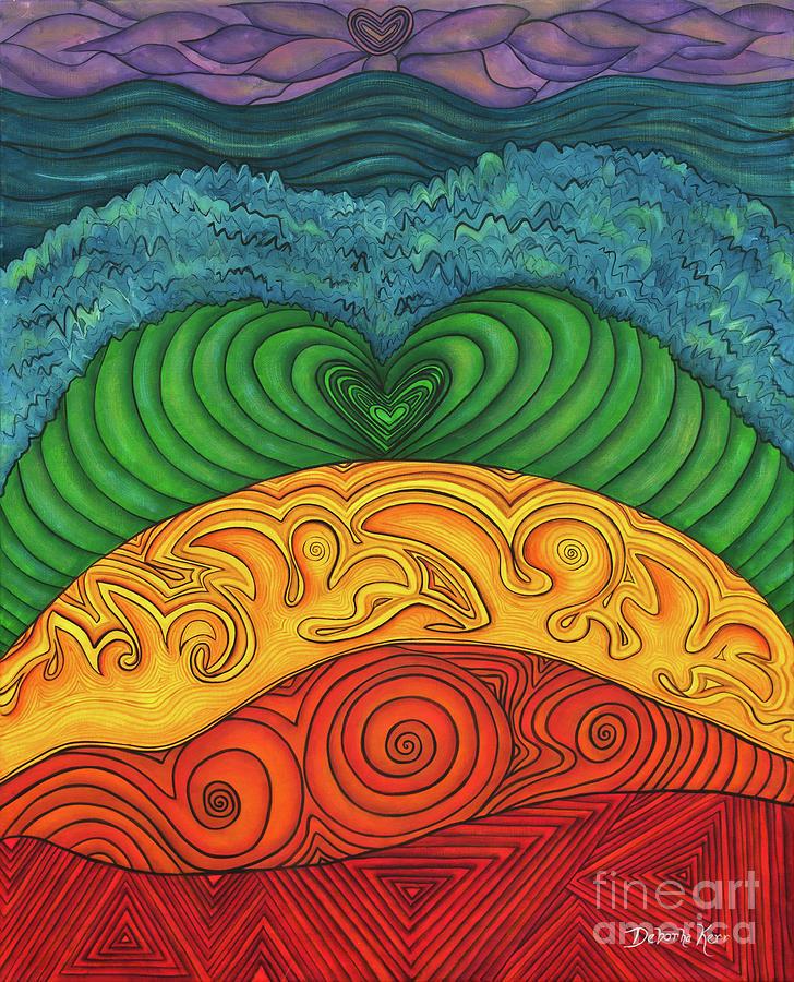 Acrylic Painting Painting - Chakra Ascension by Deborha Kerr