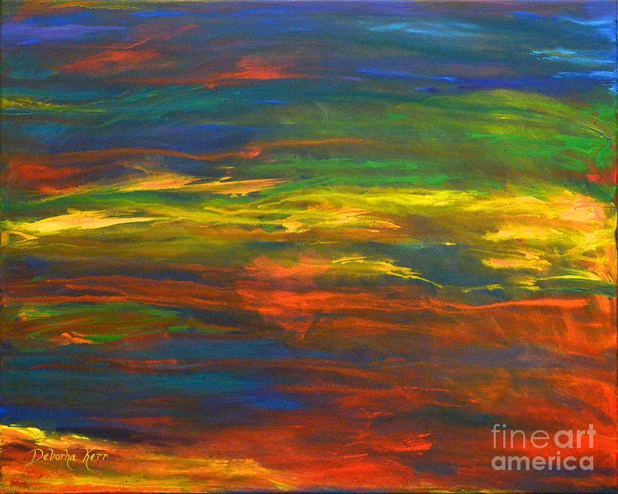Chakras Painting - Chakra Energy With Heart by Deborha Kerr