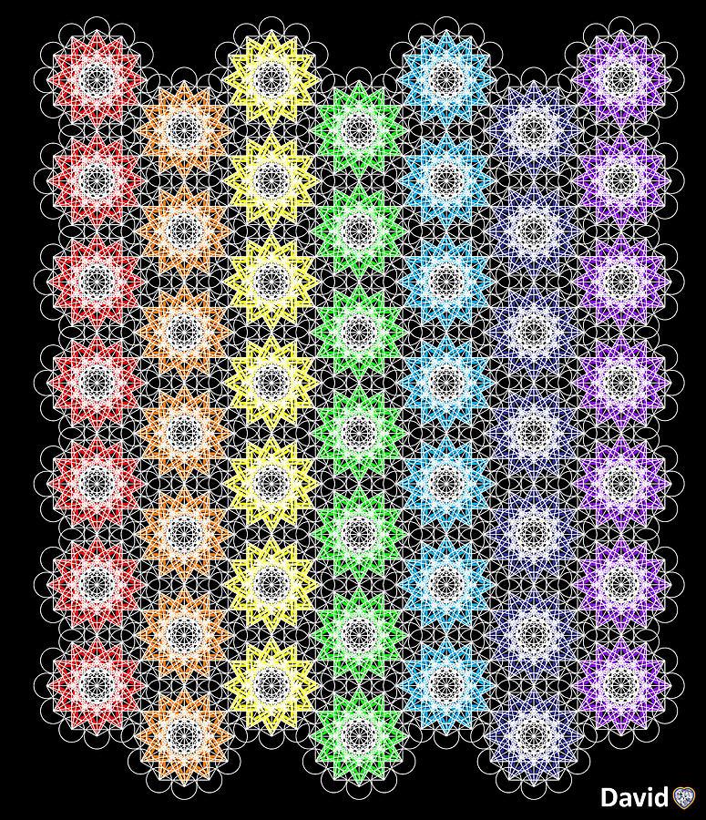 Chakra Healing Digital Art - Chakra Healing Grid by David Diamondheart
