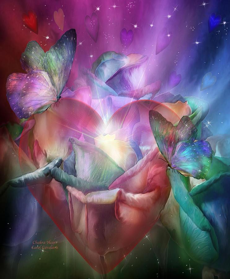 Chakra Mixed Media - Chakra Heart by Carol Cavalaris