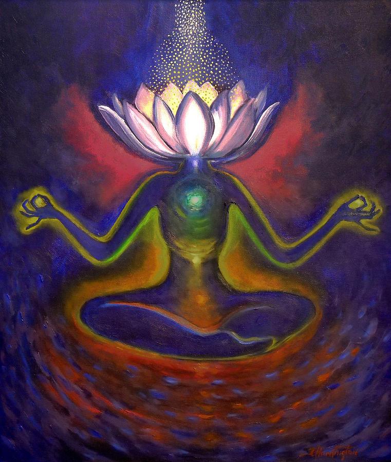 Chakra Meditation Painting by Joyce Huntington