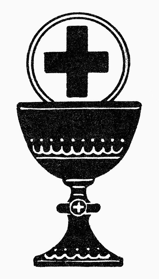 Chalice Painting - Chalice And Cross by Granger