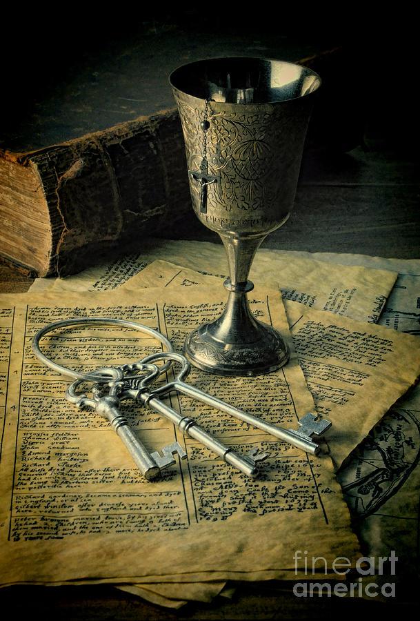 Keys Photograph - Chalice And Keys by Jill Battaglia