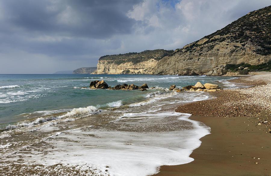 Chalk Cliff Coastline Kourion Cyprus Photograph by Duncan Usher