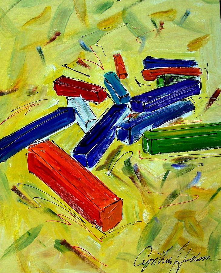 Chalk Painting - Chalk by Cynthia Hudson