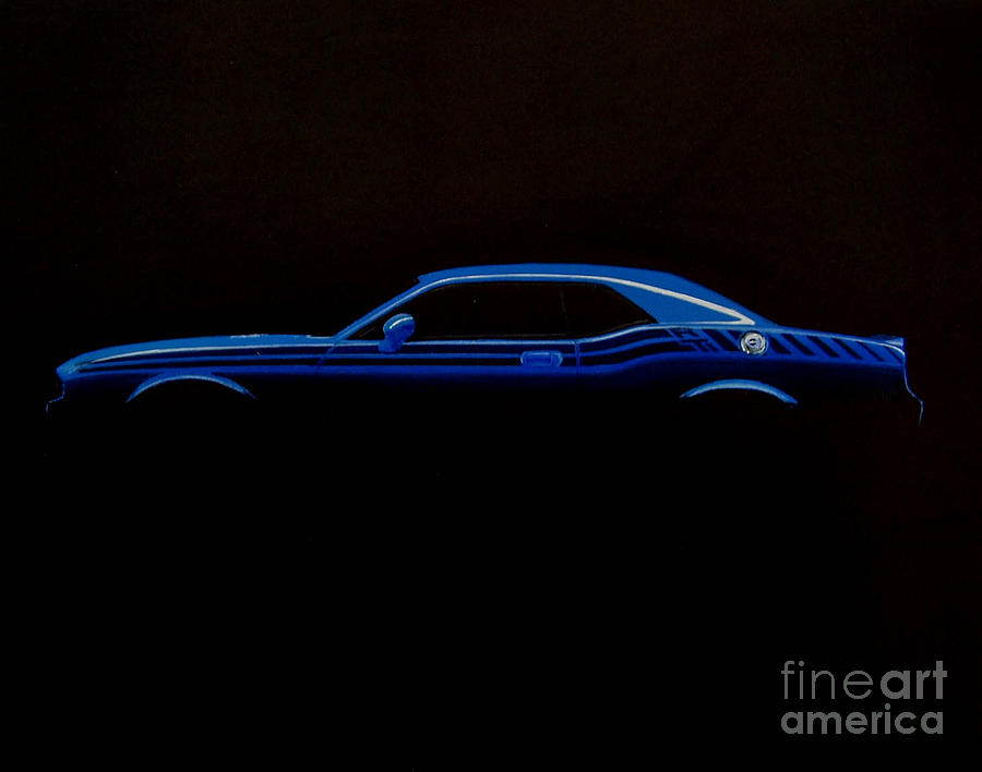 Dodge Drawing - Challenger Silhouette by Paul Kuras