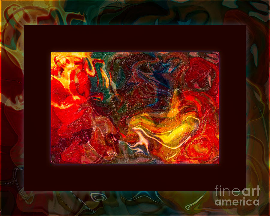 8x10 Painting - Challenges And Moments In Time Abstract Healing Art by Omaste Witkowski