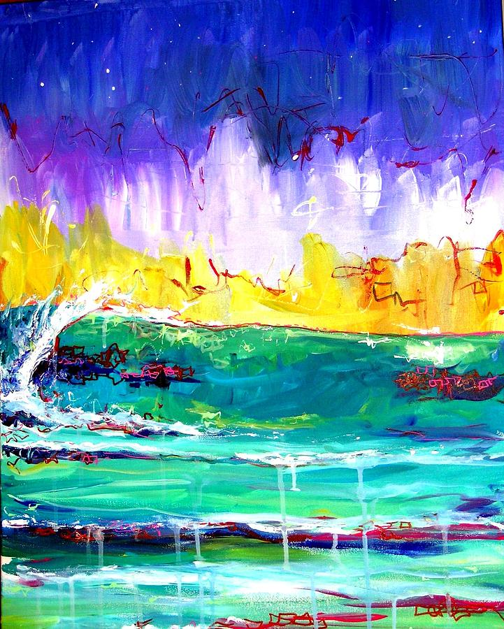 Waves Painting - Challenges by Dawn Gray Moraga
