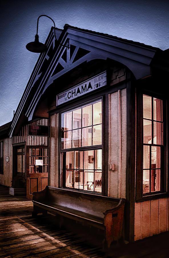 New Mexico Photograph - Chama Train Station by Priscilla Burgers