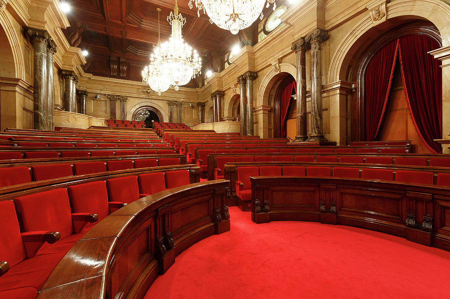 Chamber Of Catalonia Parliament Photograph by Cultura Rm Exclusive/quim Roser
