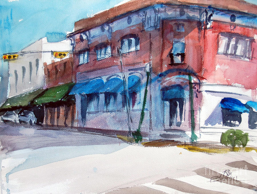 Street Scenes Painting - Chamber Of Commerce Mineola Tx by Ron Stephens