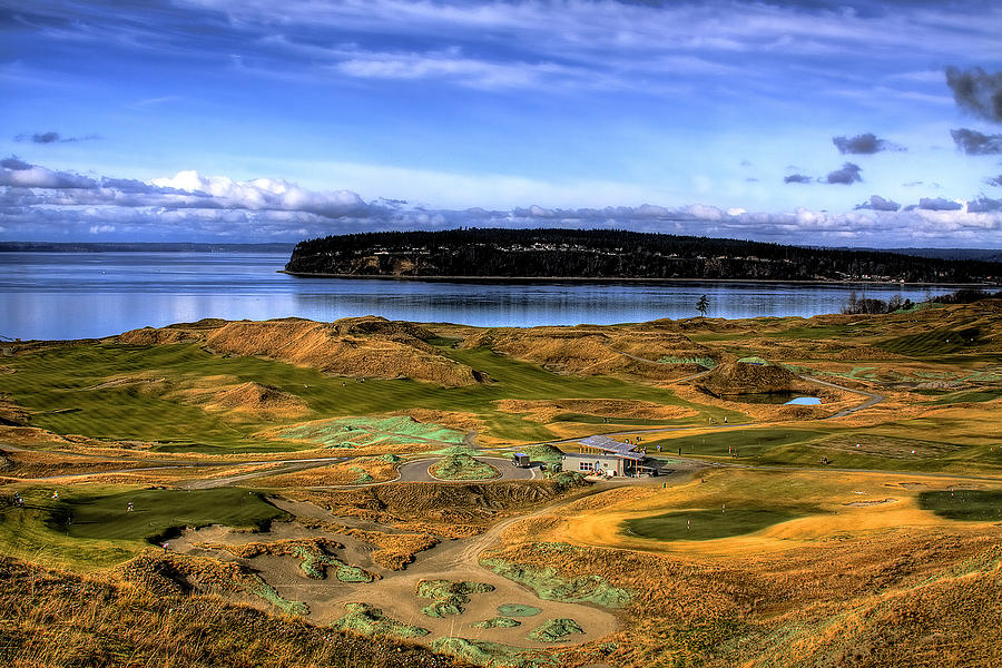 Chambers Bay Golf Course Photograph - Chambers Bay Golf Course by David Patterson