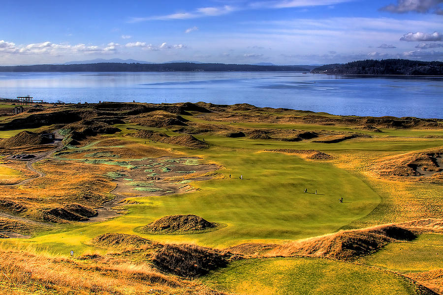Chambers Bay Golf Course Photograph - Chambers Bay Golf Course II by David Patterson