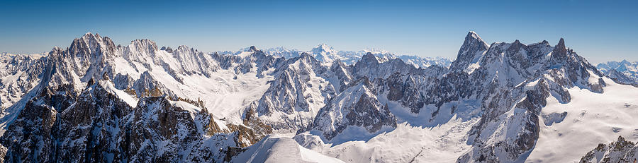 Chamonix Mont Blanc panorama Photograph by Cdbrphotography