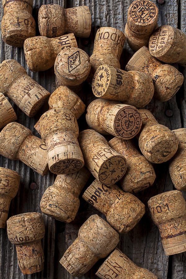 Champagne Photograph - Champagne Corks by Garry Gay