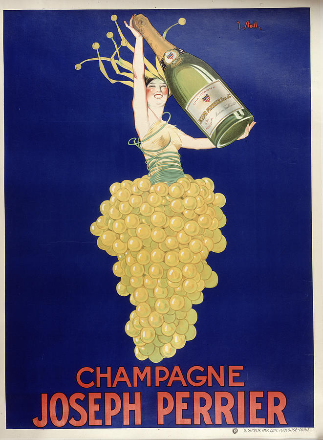 Vintage Painting - Champagne by Vintage Images