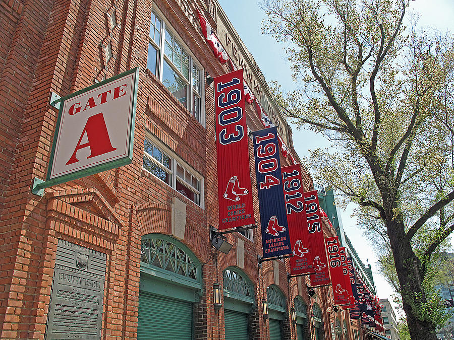 Red Sox Photograph - Championship Banners by Barbara McDevitt