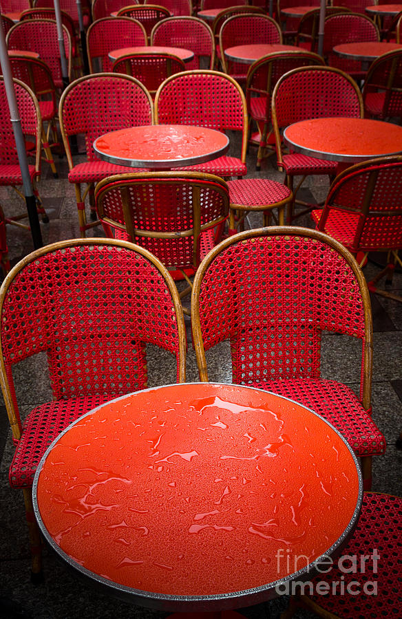 Europa Photograph - Champs Elysees Cafe by Inge Johnsson