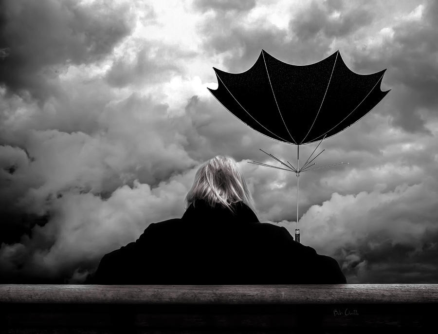 Umbrella Photograph - Chance Of Rain   Broken Umbrella by Bob Orsillo