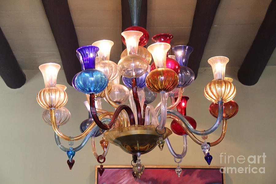 Interior Design Photograph - Chandelier At The Hotel California by Linda Queally