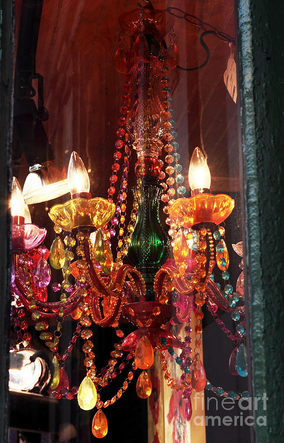 New Orleans Photograph - Chandelier by John Rizzuto
