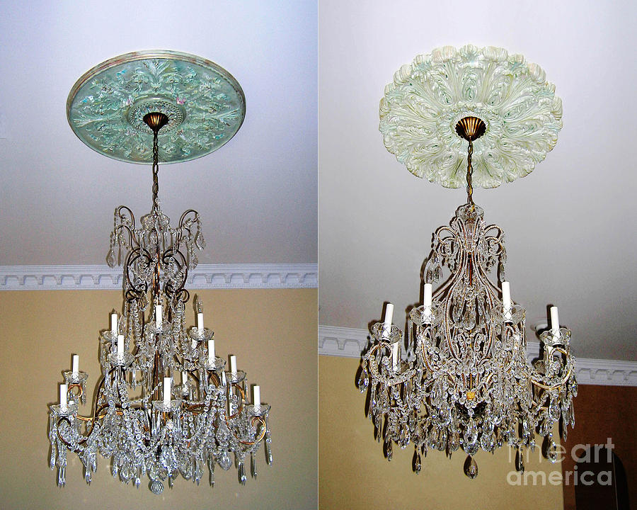 Chandelier Medallions Painting by Lizi BeardWard – Painting of Chandelier