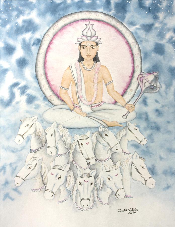 Vedic Astrology Painting - Chandra The Moon by Srishti Wilhelm