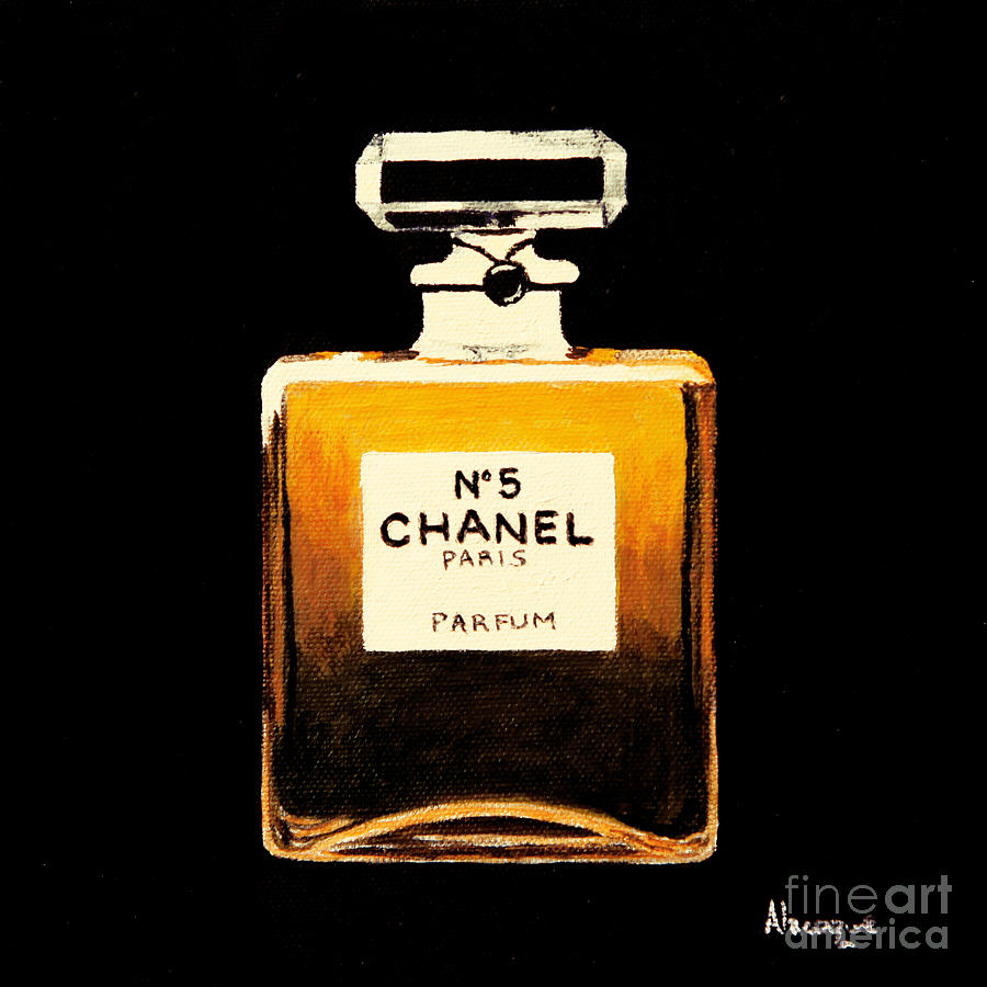 Chanel Painting - Chanel No. 5 by Alacoque Doyle
